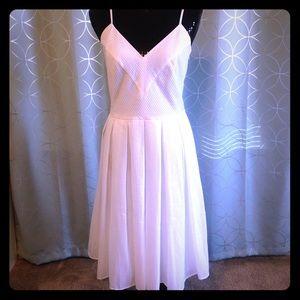 Like New Calvin Klein Pure White crinkle dress